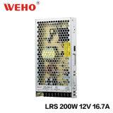 Lrs Slim 200W 12V 24V AC/DC el modo de fuente de alimentación de conmutación de LED