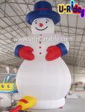 Dessin animé gonflable de bonhomme de neige de décoration de Noël pour la publicité