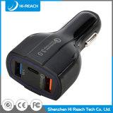 35W Preto 3 Portas universal USB 3.0 Carregador de telemóvel