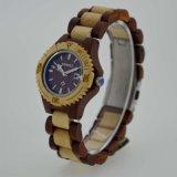 女性のための元の木の腕時計の日本動きOEMの腕時計
