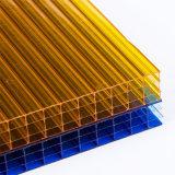 Anti-Fog vier Wand-hohles Polycarbonat-Blatt für 10-Jährige Garantie
