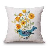愛鳥および花のソファー(35C0268)のためのデジタルによって印刷されるクッションカバー
