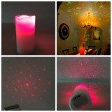 Proyector de la vela/luz roja de la vela LED de la cera/luz de la vela de la cera/laser sin llama con pilas de la vela