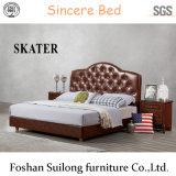 Neue amerikanische Art-Leder-Bett-Schlafzimmer-Möbel