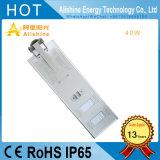 Fabricante de 40W de luz de carretera exterior LED lámpara solar de la calle
