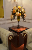 0068 단단한 나무는 호화스러운 베니어 높은 광택 완료 커피용 탁자를 덮었다