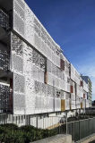 Fabricação de Metal Alumínio fachada perfurada para parede exterior do painel