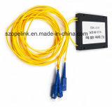 광섬유 Gpon 원거리 통신 1X2 PLC 쪼개는 도구 아BS 상자