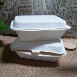 Quitar los rectángulos de almuerzo biodegradables divididos de Bento del bagazo del envase de alimento