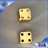 DIY Uw Vierkante Hoek 6 van de Stijl het Opgeruimde Zilveren Metaal van het Casino dobbelt