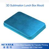 第2 3D昇華ブランクの白いプラスチックお弁当箱か青またはピンク