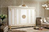 0062-1 유럽 고전적인 왕 신선한 백색 색깔 옷장