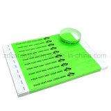 L'impression personnalisée jetables en papier RFID Bracelet 13.56MHz pour des événements