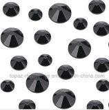 Schwarz-nicht heiße Verlegenheits-flache Rückseite KristallStrass des Strahlen-Ss6 für Nagel-Kunst-Entwurf (FB-Strahl Schwarzes)