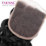 Chiusura brasiliana della parte superiore del merletto dei capelli umani del Virgin italiano dell'arricciatura di Yvonne