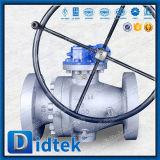 Robinets à tournant sphérique montés par tourillon latéral posés par métal de l'entrée A105 de Didtek