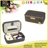 小さく優雅な卸し売り革宝石箱の包装(8336)