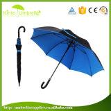 Mehrfarben die Qualitäts-äußere schwarze innere Schicht fertigen wasserdichten geraden Regenschirm kundenspezifisch an