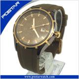 Classic et chaud de style suisse de vente en véritable cuir résistant à l'eau montre à quartz