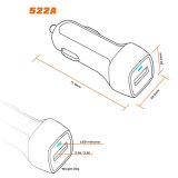 Заряжатель автомобиля USB всеобщего мобильного телефона QC3.0 быстрый электрический