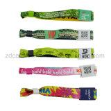 Wristband tecido RFID personalizado barato da tela do festival do evento único