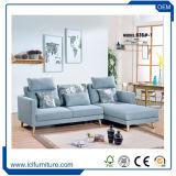 Les meubles de salle de séjour placent le bâti de sofa sectionnel bon marché de tissu