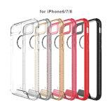 Aduana cristalina al por mayor 2 en 1 caja combinada del teléfono móvil de PC+TPU para el iPhone X