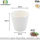 Pequeño 100ml 4 onzas de café rizado de vaso de papel para la degustación (4oz)