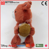 실행이 아기를 위한 연약한 박제 동물 포옹 장난감 견면 벨벳 다람쥐에 의하여 농담을 한다