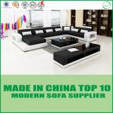 Sofá moderno do couro da sala de visitas do estilo italiano Home da mobília