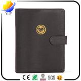 Le cahier noir d'affaires d'unité centrale de cadeau promotionnel d'affaires peut logo fait sur commande