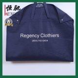 Impresos personalizados Non-Woven traje azul marino PP Tapa de la bolsa de prendas de vestir