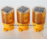 広州の高い可視性水証拠LEDの太陽動力を与えられたトラフィックの円錐形の警報灯の障害物表示燈