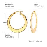Mode Bijoux en acier inoxydable de cadeaux Silver Round filles Earring