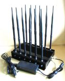 Las bandas de 12 celular Jammer para todo celular, control remoto, radio VHF/UHF
