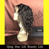 "fabricante cheio da peruca do laço da onda preta de Natual do cabelo humano de Remy do Virgin da cor 14 "" - 22 """