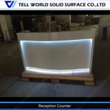 商業オフィス用家具のオフィスの前部フロントをつける現代純粋なアクリルRGB LED