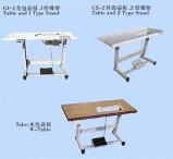 La tabla y el soporte para la máquina de coser industriales