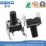 Interruptor 6*6 del tacto del metal SMD con el bloqueo