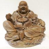 仏の彫像を笑わせる旧式な家庭内オフィスの樹脂のクラフトの装飾