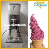 Remolino congelados helado de fruta real de la batidora la máquina con cono de acero inoxidable y cono plástico