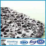 La decoración interior de espuma de aluminio