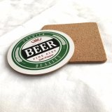 MDFビール飲み物のコースターは、とカスタム設計する