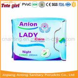 Des serviettes hygiéniques des ions négatifs populaire serviette hygiénique avec Green Adl