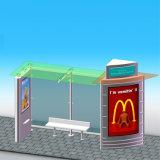 Arrêt de bus solaire de ventes Nice en métal intense extérieur chaud d'Appreance