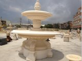 白い大理石の石販売のための屋外水噴水3つの層の