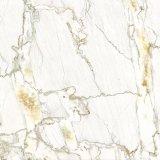 Het gele Marmeren Ontwerp die van de Kleur de Volledige Opgepoetste Verglaasde Tegel 80X80 vloeren van het Porselein