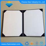 Certificado do grau de PU almofadado personalizado cobrir, PU elástico Pasta de Certificado