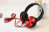 Écouteurs stéréo d'Au-dessus-Oreille de câble par jeu stéréo d'écouteurs de câble plat
