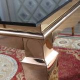 販売のための卸し売りローズの金のステンレス鋼のダイニングテーブル